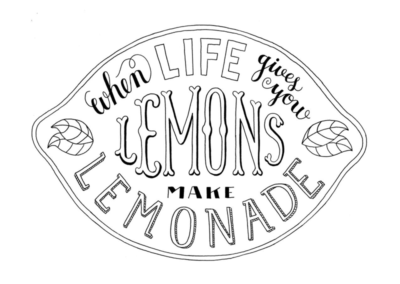 When life hands you lemons, do you make lemonade?